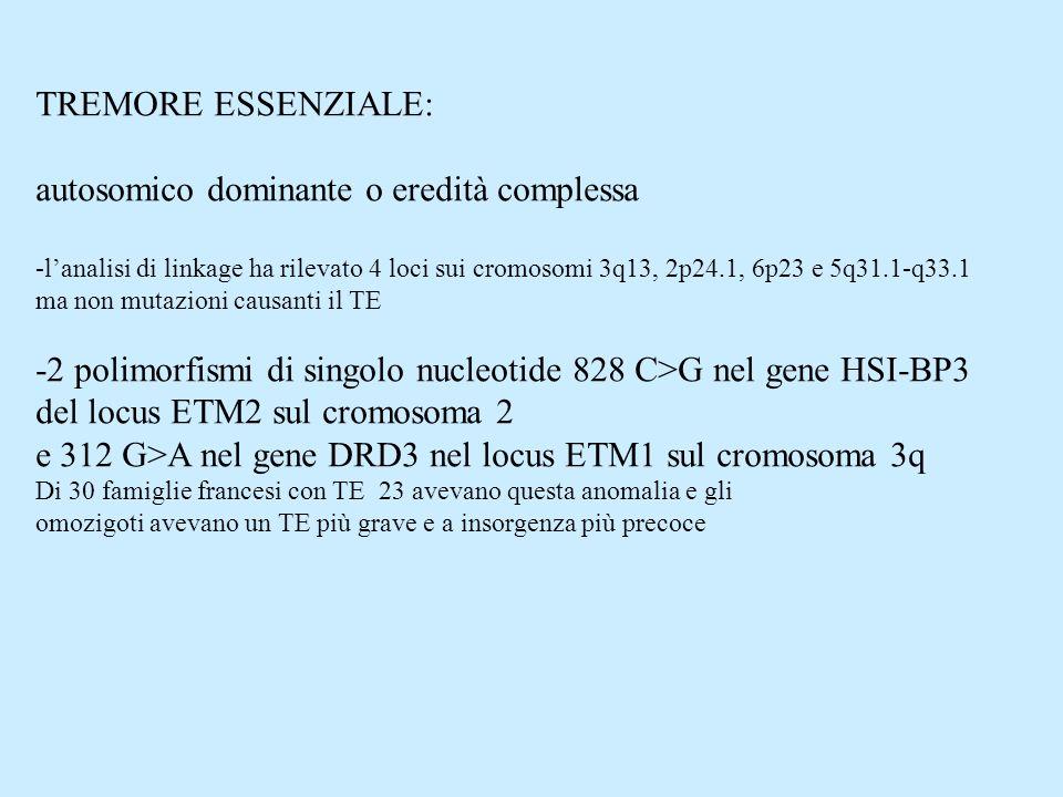 autosomico dominante o eredità complessa