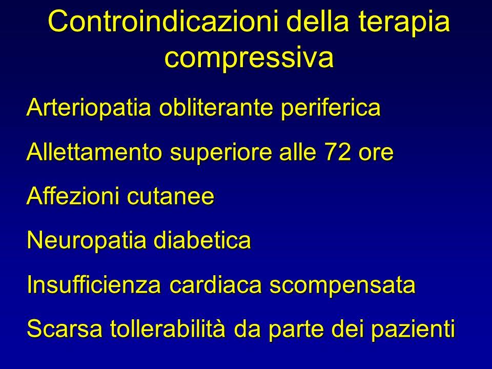 Controindicazioni della terapia compressiva