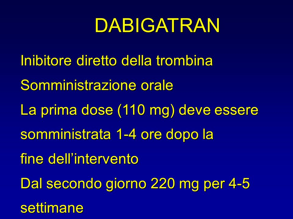 DABIGATRAN