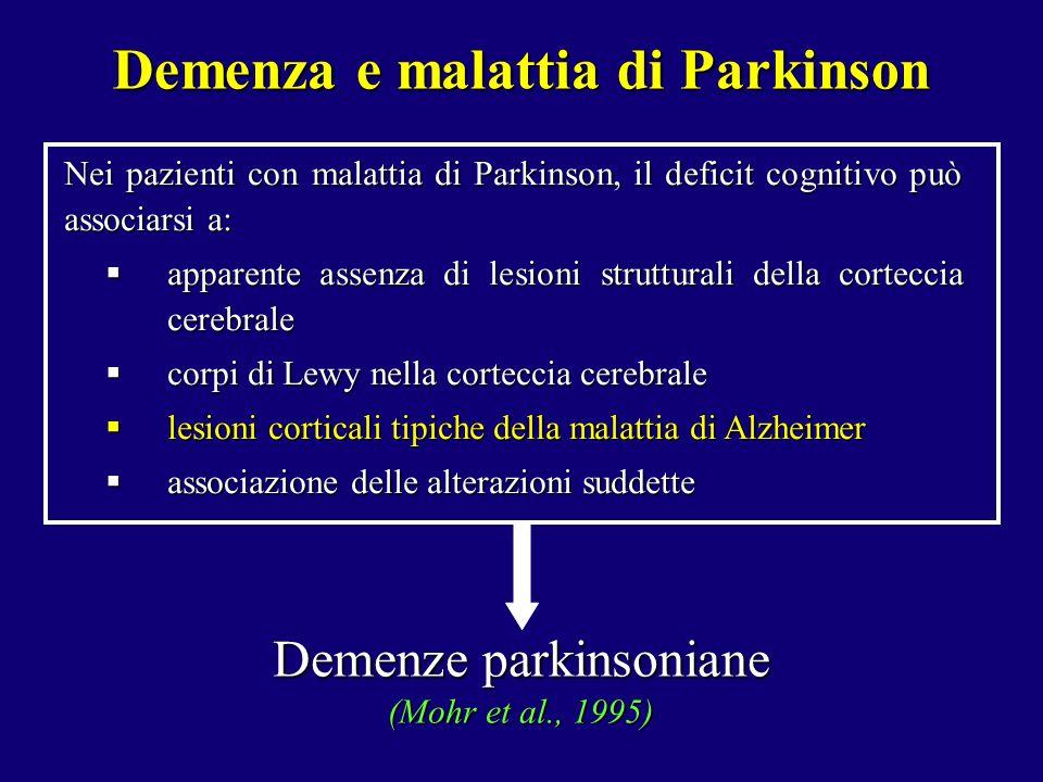Demenza e malattia di Parkinson