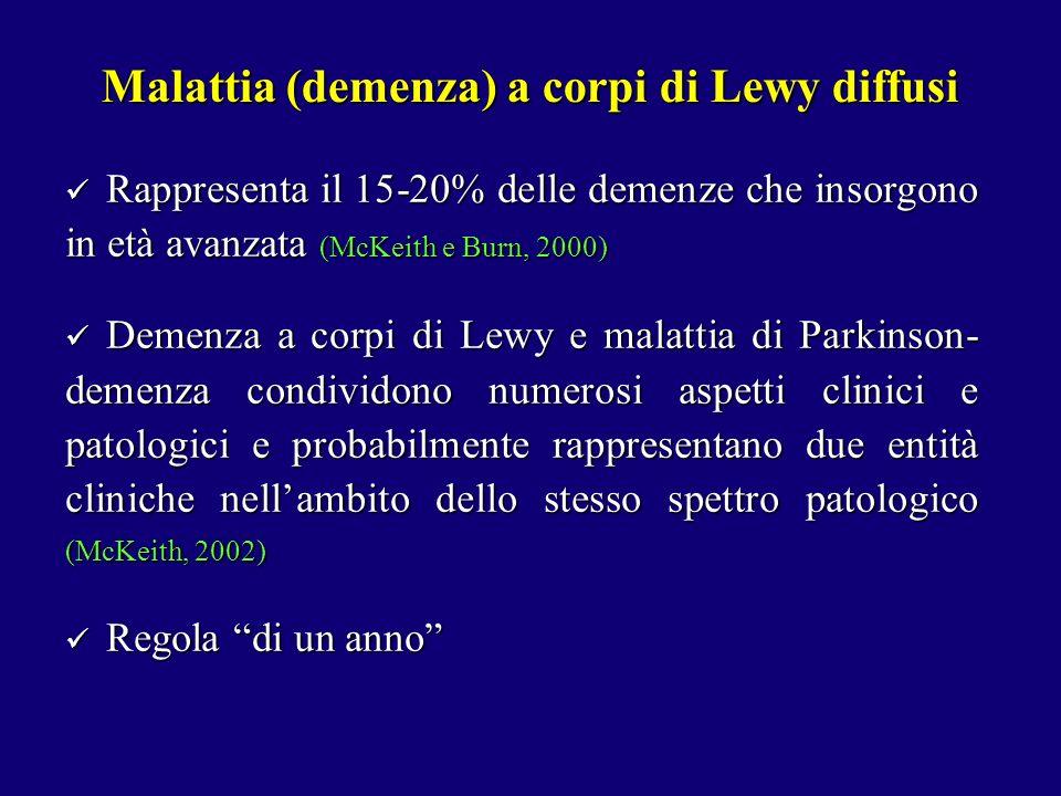 Malattia (demenza) a corpi di Lewy diffusi