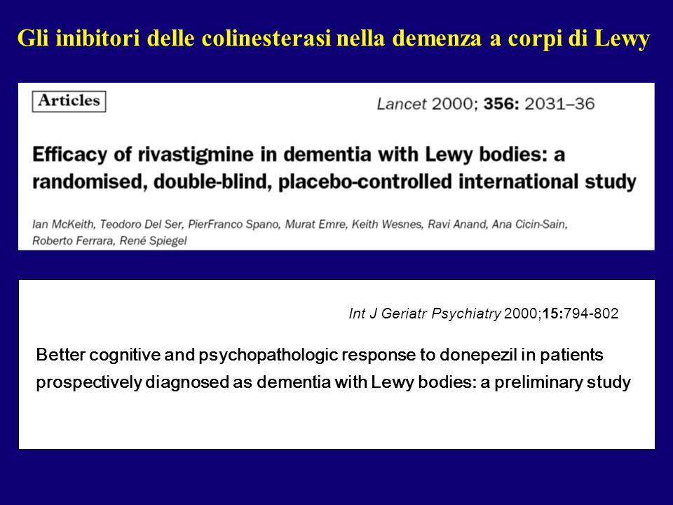 Gli inibitori delle colinesterasi nella demenza a corpi di Lewy