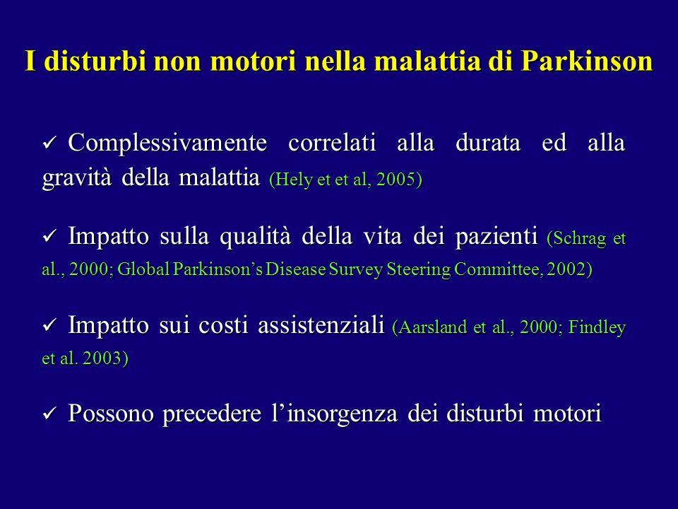 I disturbi non motori nella malattia di Parkinson