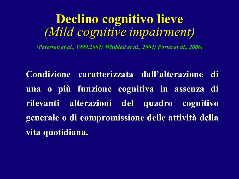 Declino cognitivo lieve (Mild cognitive impairment) (Petersen et al