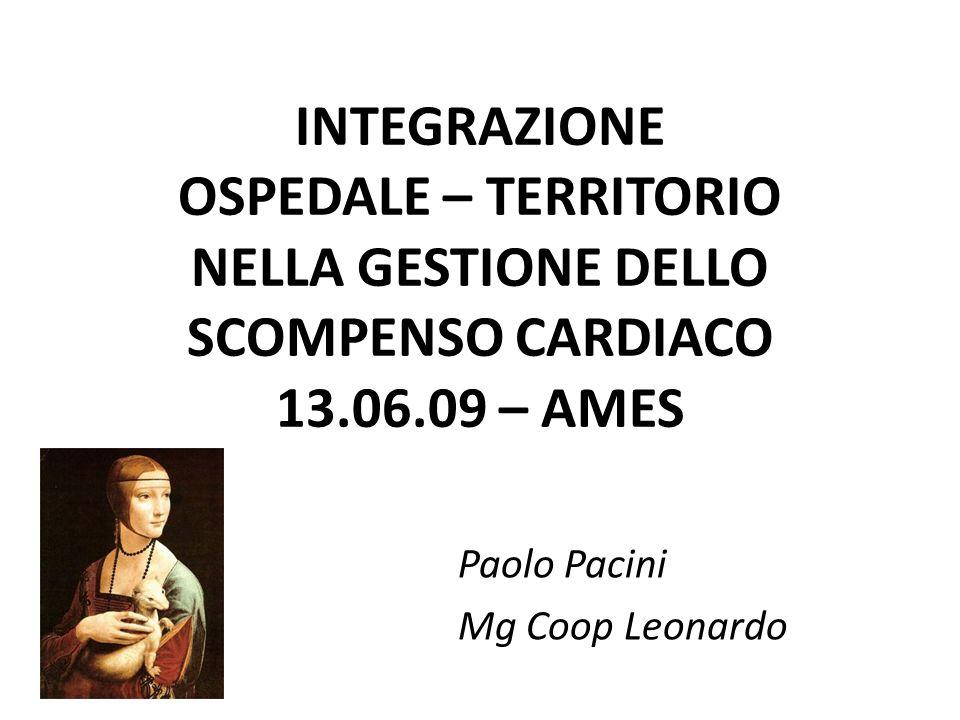INTEGRAZIONE OSPEDALE – TERRITORIO NELLA GESTIONE DELLO SCOMPENSO CARDIACO 13.06.09 – AMES