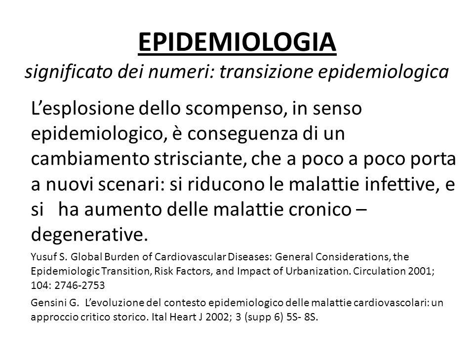 EPIDEMIOLOGIA significato dei numeri: transizione epidemiologica