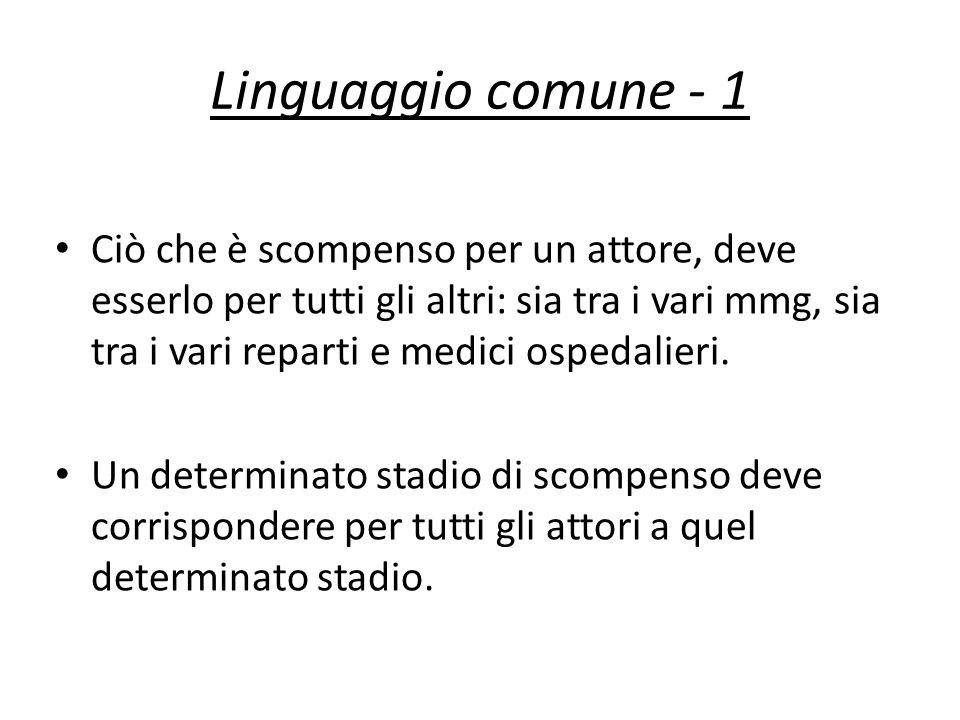 Linguaggio comune - 1