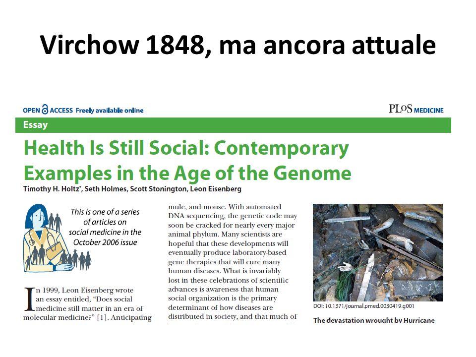 Virchow 1848, ma ancora attuale