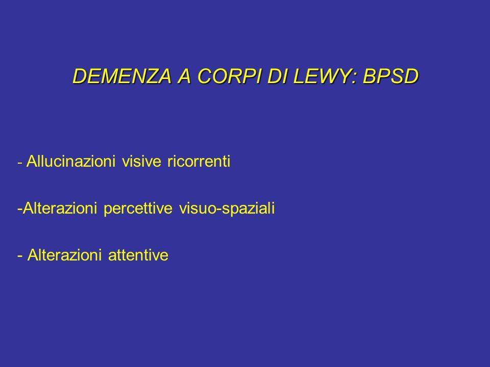 DEMENZA A CORPI DI LEWY: BPSD