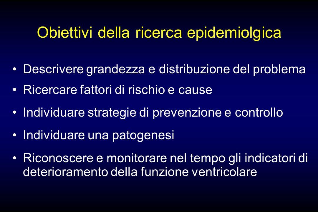 Obiettivi della ricerca epidemiolgica