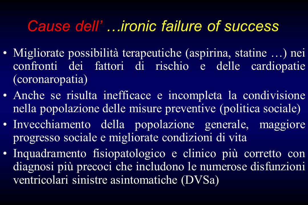 Cause dell' …ironic failure of success