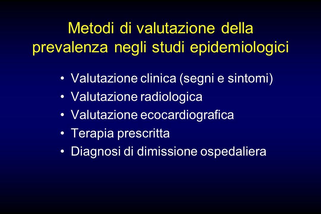 Metodi di valutazione della prevalenza negli studi epidemiologici