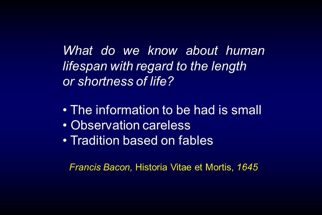 Francis Bacon, Historia Vitae et Mortis, 1645