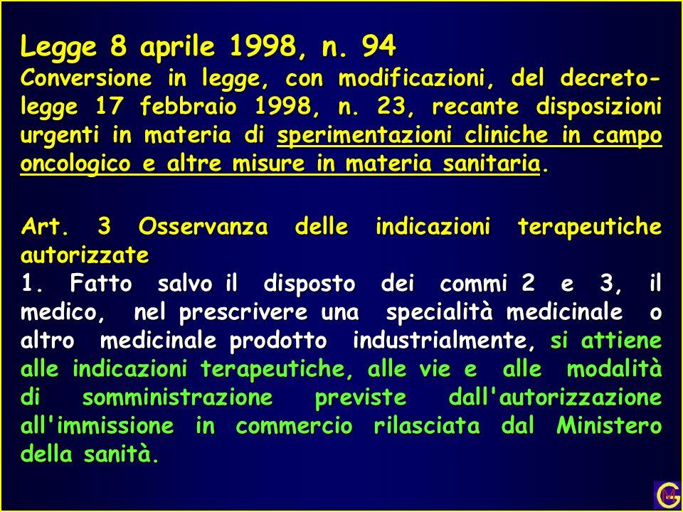 Legge 8 aprile 1998, n. 94