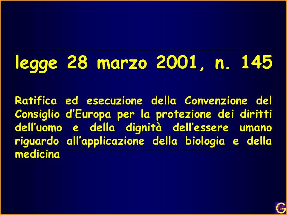 legge 28 marzo 2001, n.