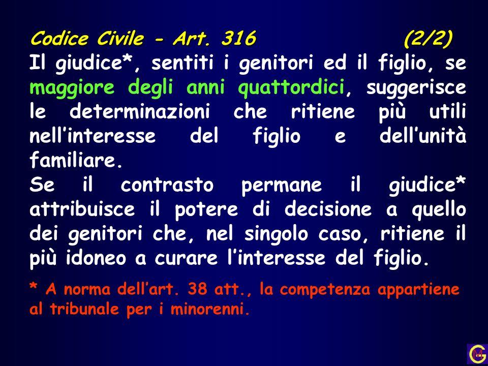 Codice Civile - Art. 316 (2/2)
