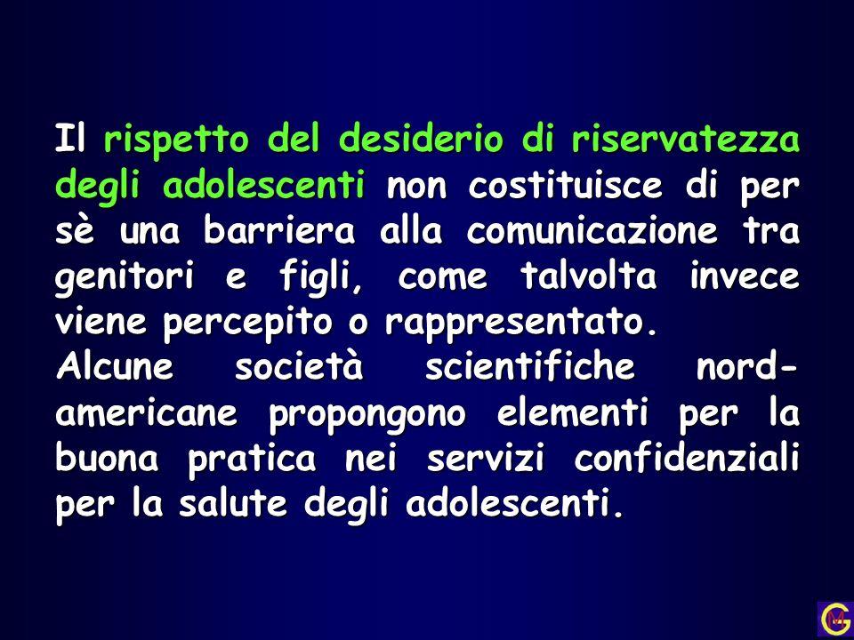 Il rispetto del desiderio di riservatezza degli adolescenti non costituisce di per sè una barriera alla comunicazione tra genitori e figli, come talvolta invece viene percepito o rappresentato.