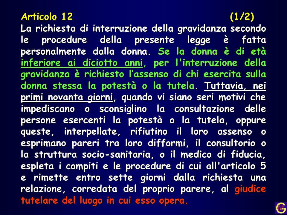 Articolo 12 (1/2)