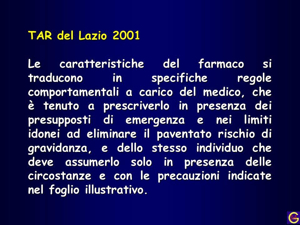 TAR del Lazio 2001