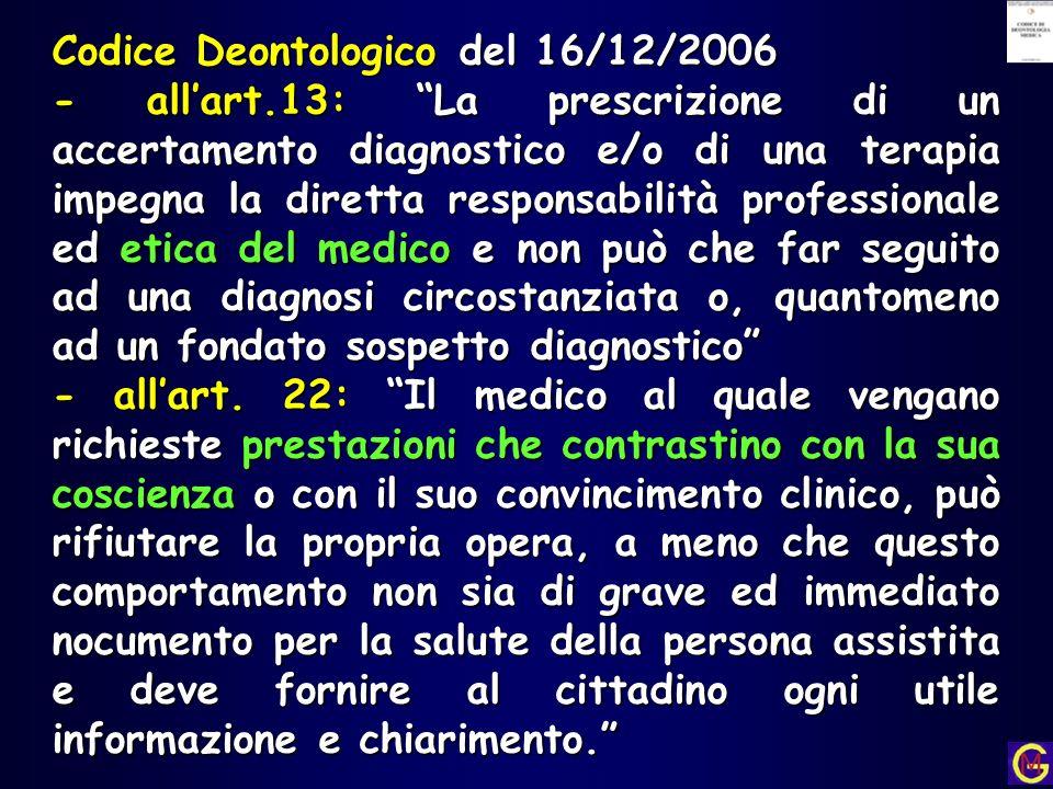 Codice Deontologico del 16/12/2006
