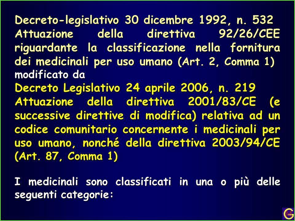 Decreto-legislativo 30 dicembre 1992, n. 532