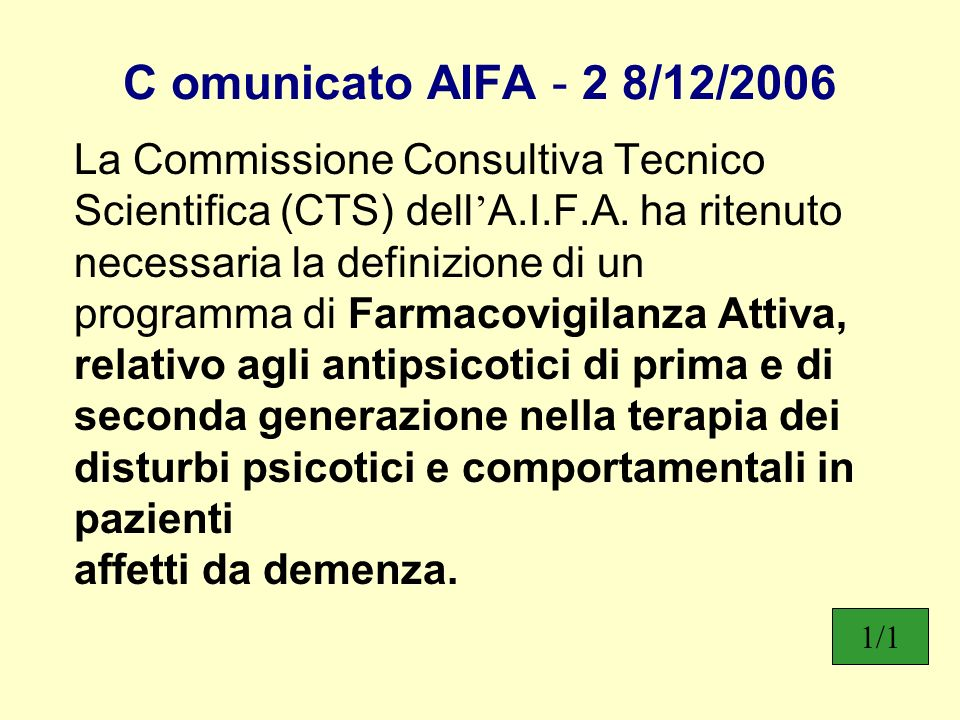 C omunicato AIFA - 2 8/12/2006