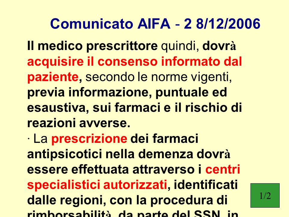 Comunicato AIFA - 2 8/12/2006