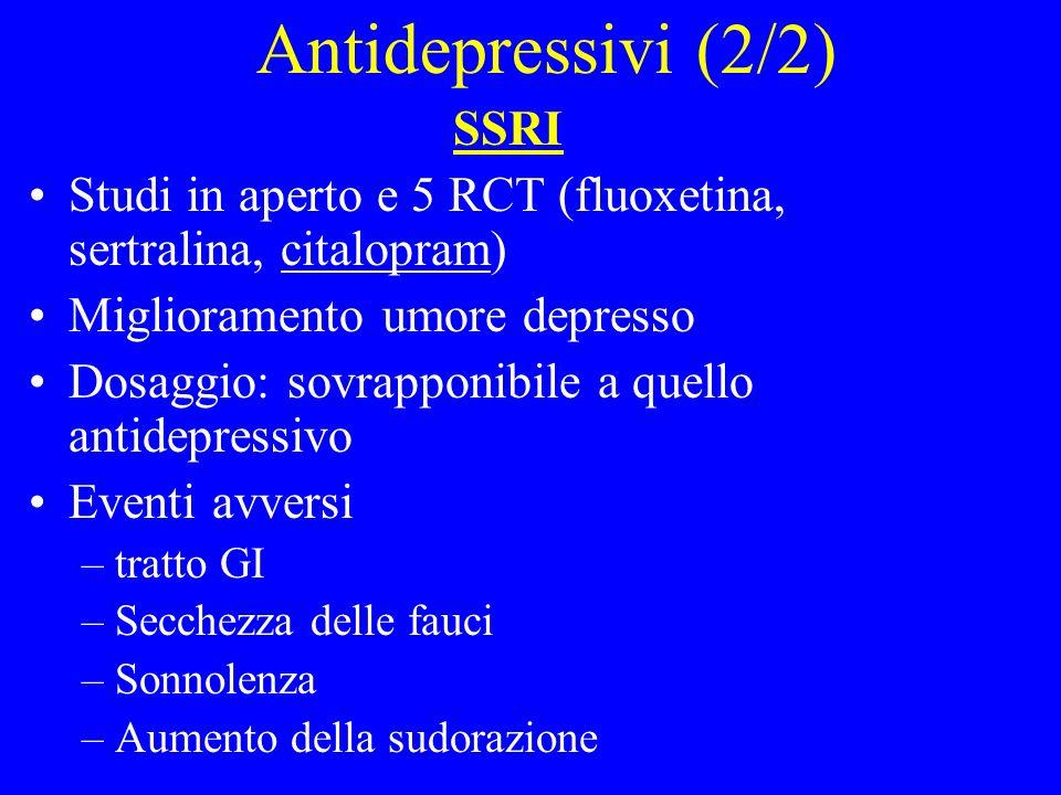 Antidepressivi (2/2) SSRI