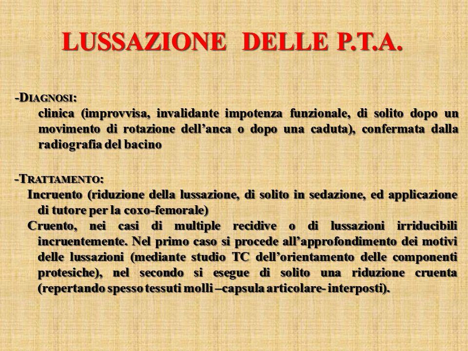 LUSSAZIONE DELLE P.T.A. LUSSAZIONE DELLE P.T.A.