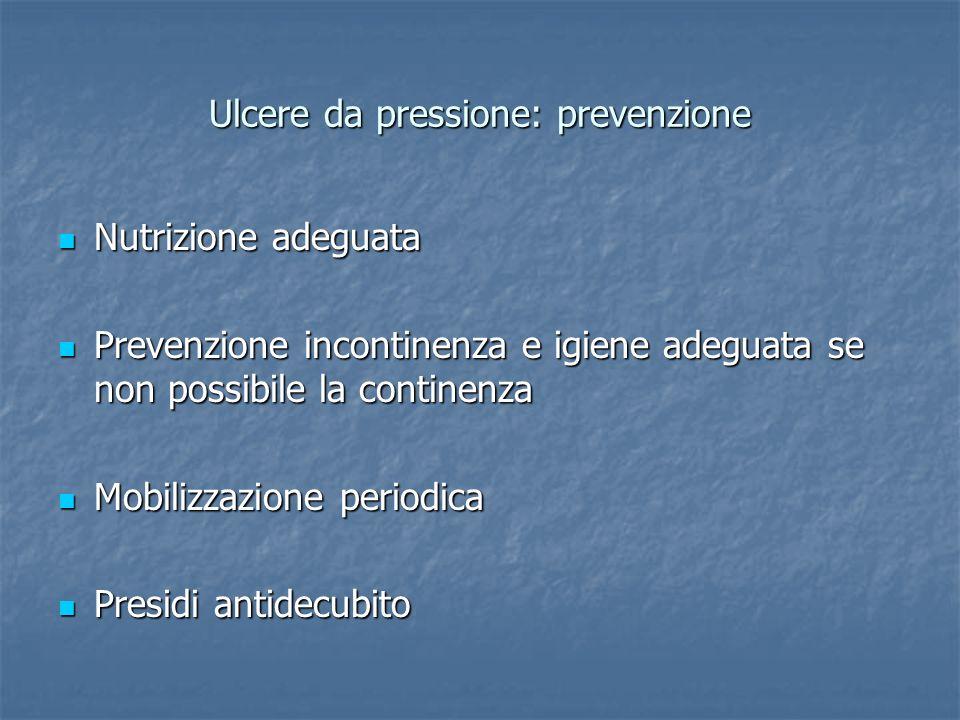 Ulcere da pressione: prevenzione