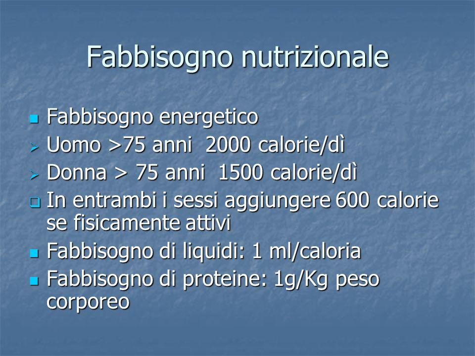 Fabbisogno nutrizionale