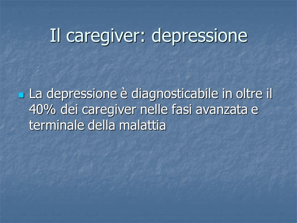 Il caregiver: depressione