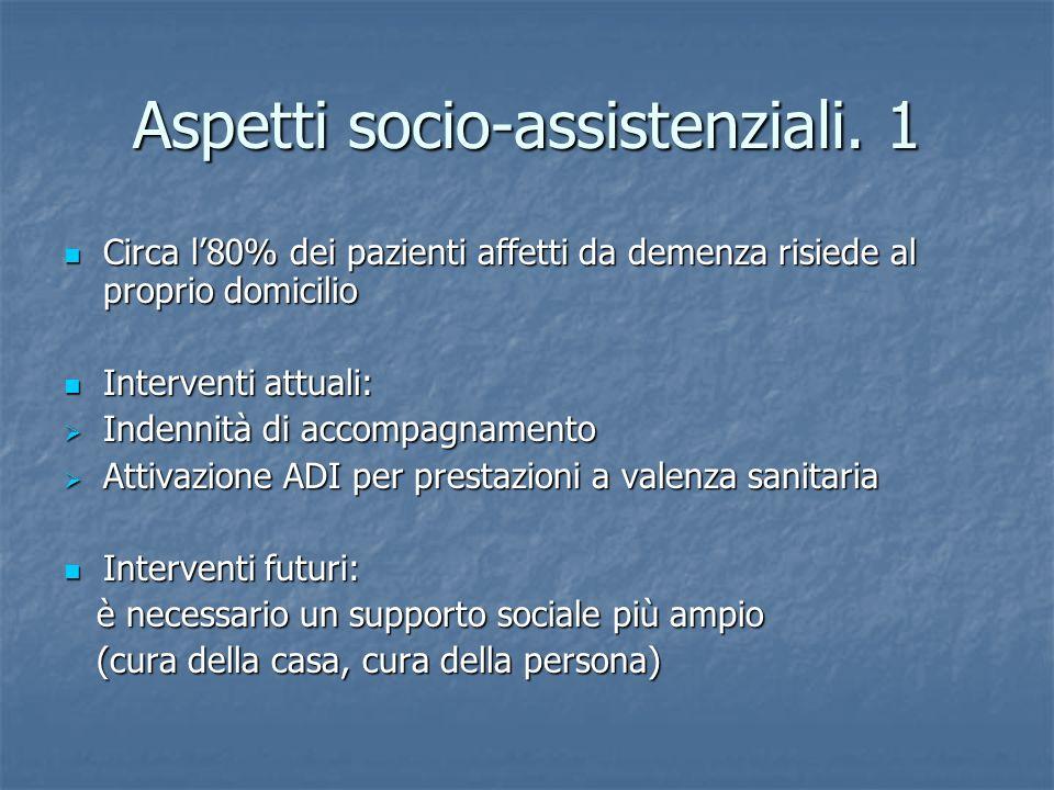 Aspetti socio-assistenziali. 1