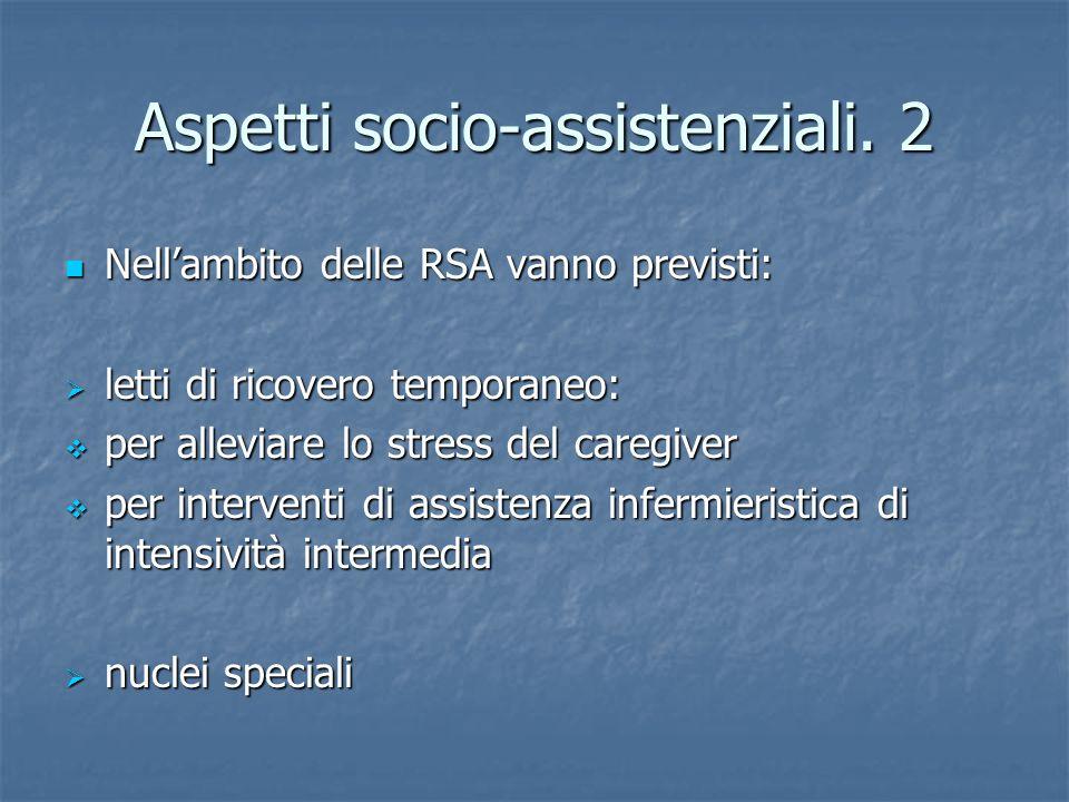 Aspetti socio-assistenziali. 2