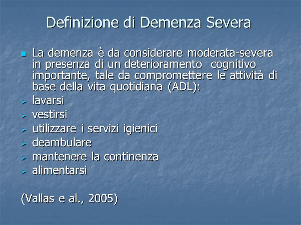 Definizione di Demenza Severa