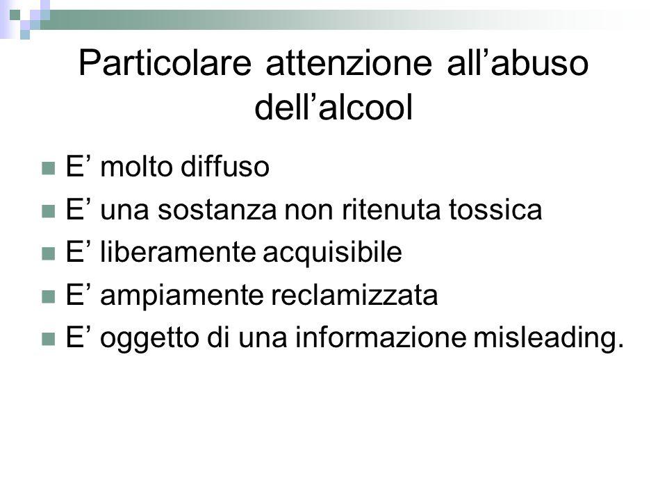 Particolare attenzione all'abuso dell'alcool