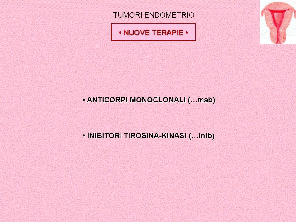 TUMORI ENDOMETRIO • NUOVE TERAPIE • • ANTICORPI MONOCLONALI (…mab) • INIBITORI TIROSINA-KINASI (…inib)