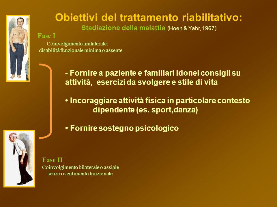 Obiettivi del trattamento riabilitativo: