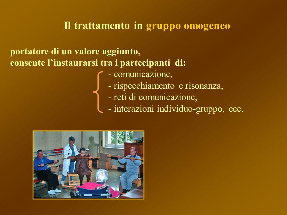 Il trattamento in gruppo omogeneo