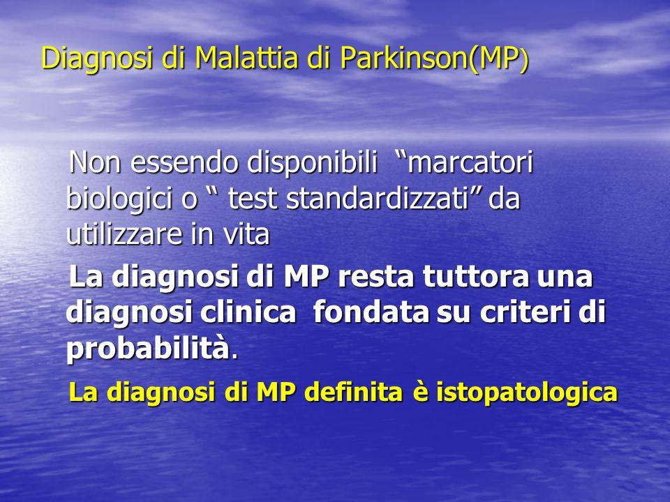 Diagnosi di Malattia di Parkinson(MP)