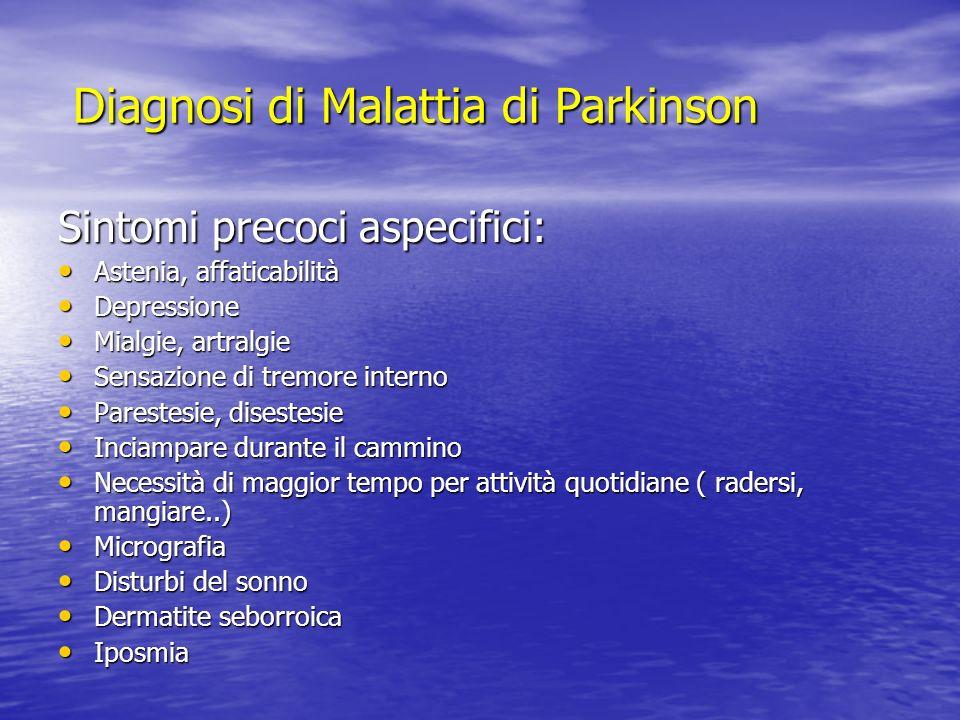 Diagnosi di Malattia di Parkinson