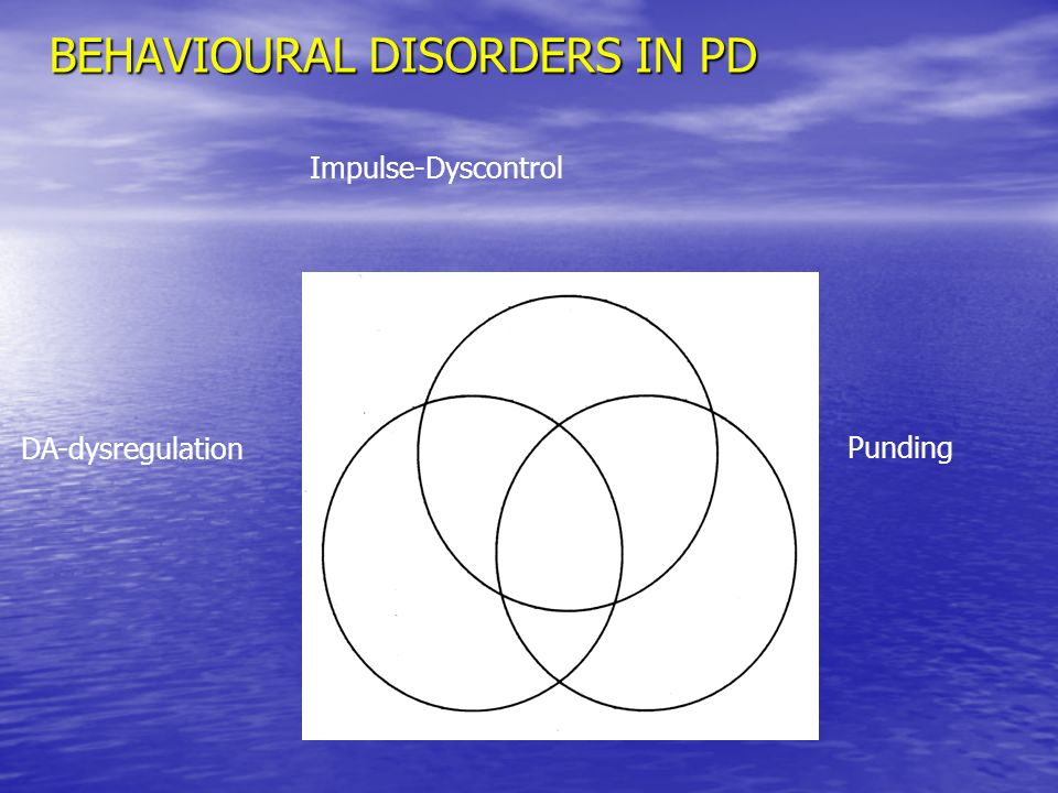 BEHAVIOURAL DISORDERS IN PD