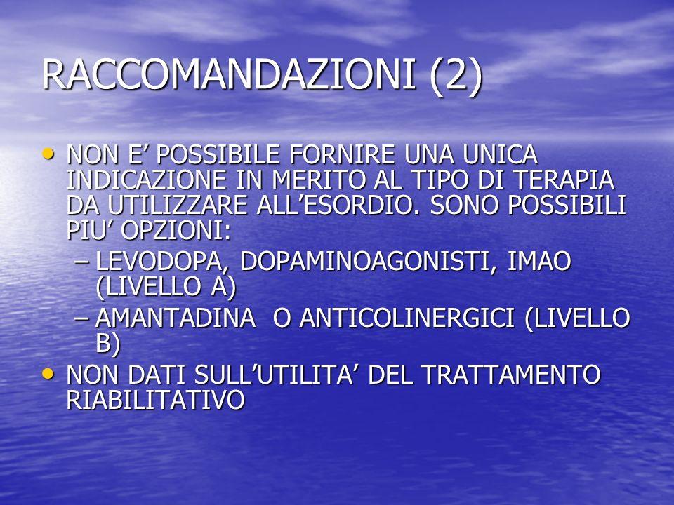 RACCOMANDAZIONI (2)