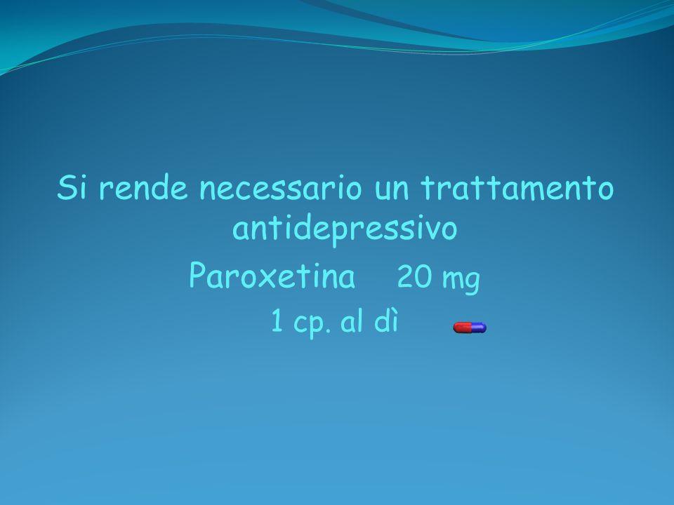 Si rende necessario un trattamento antidepressivo