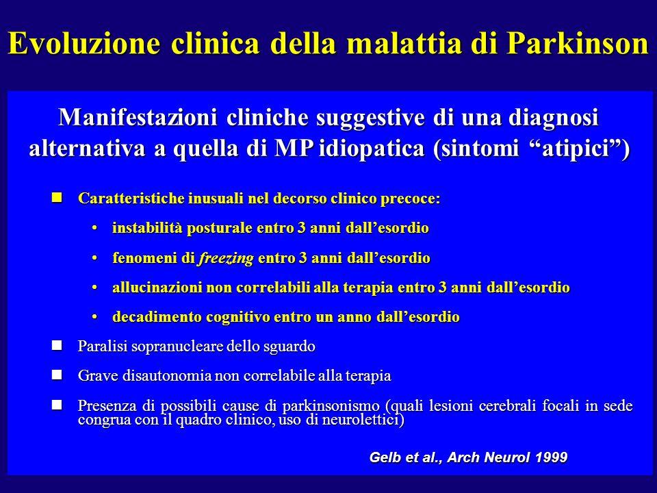 Evoluzione clinica della malattia di Parkinson