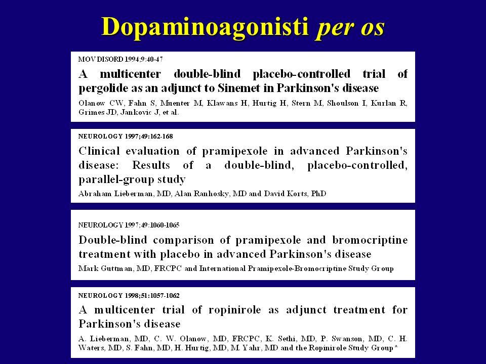 Dopaminoagonisti per os
