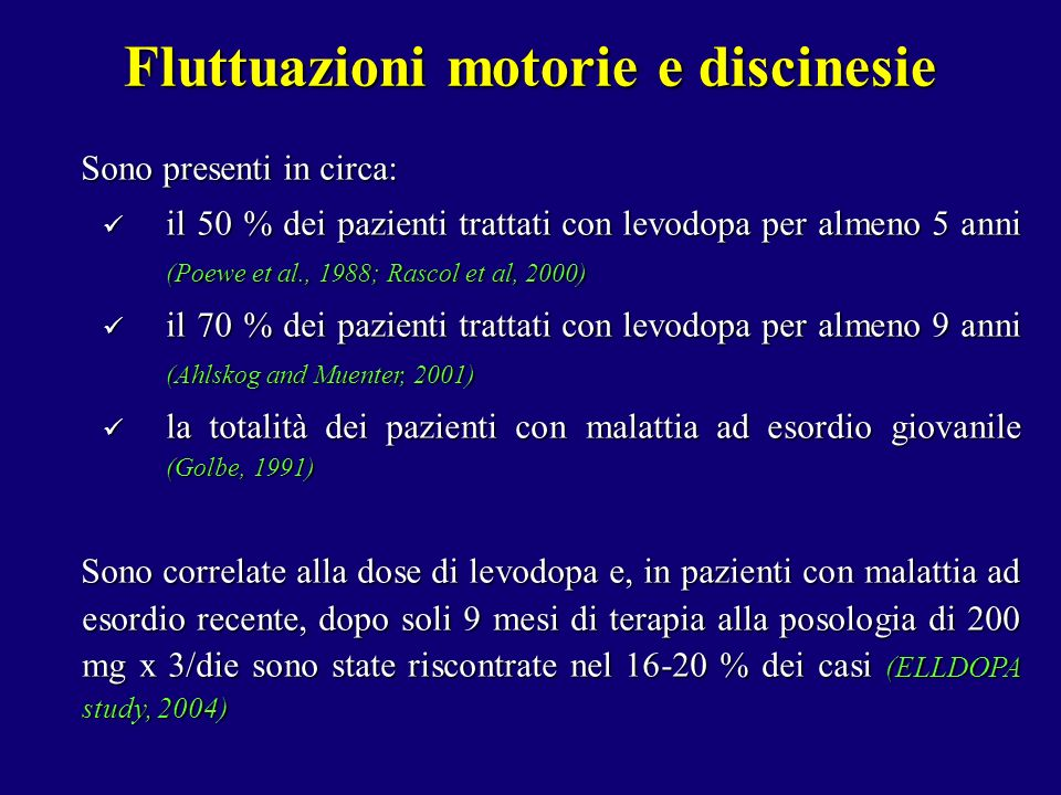 Fluttuazioni motorie e discinesie
