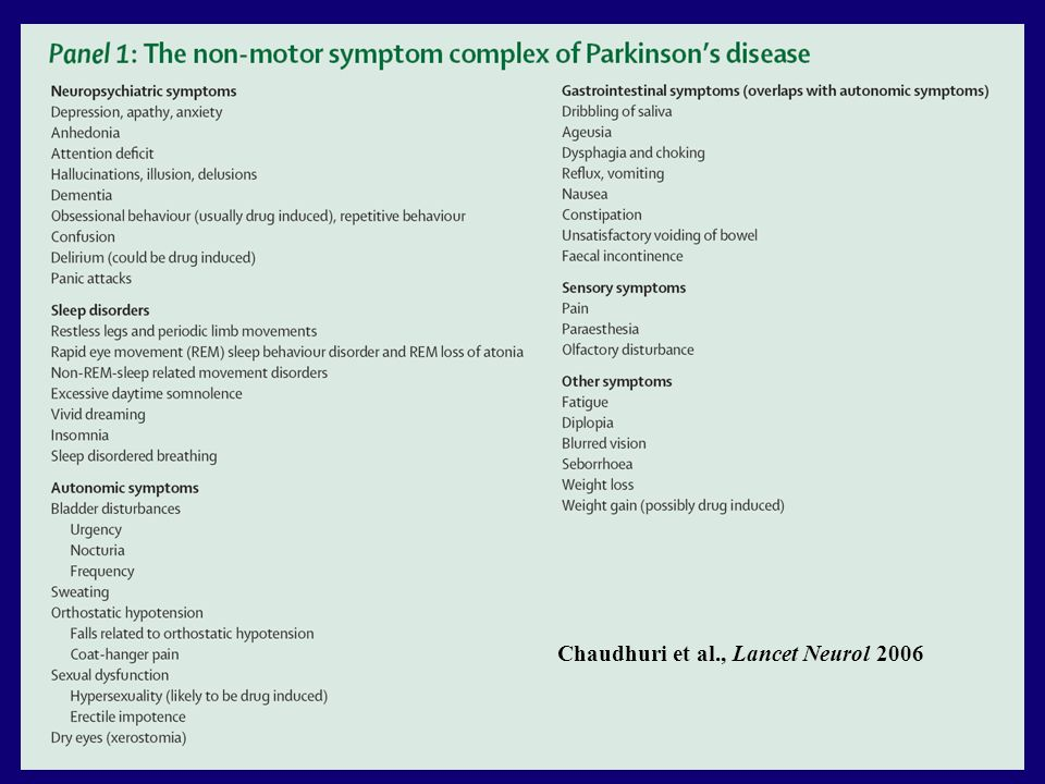 Chaudhuri et al., Lancet Neurol 2006