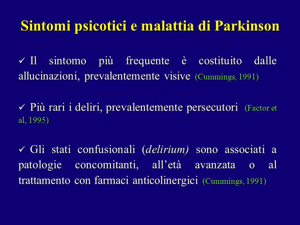 Sintomi psicotici e malattia di Parkinson