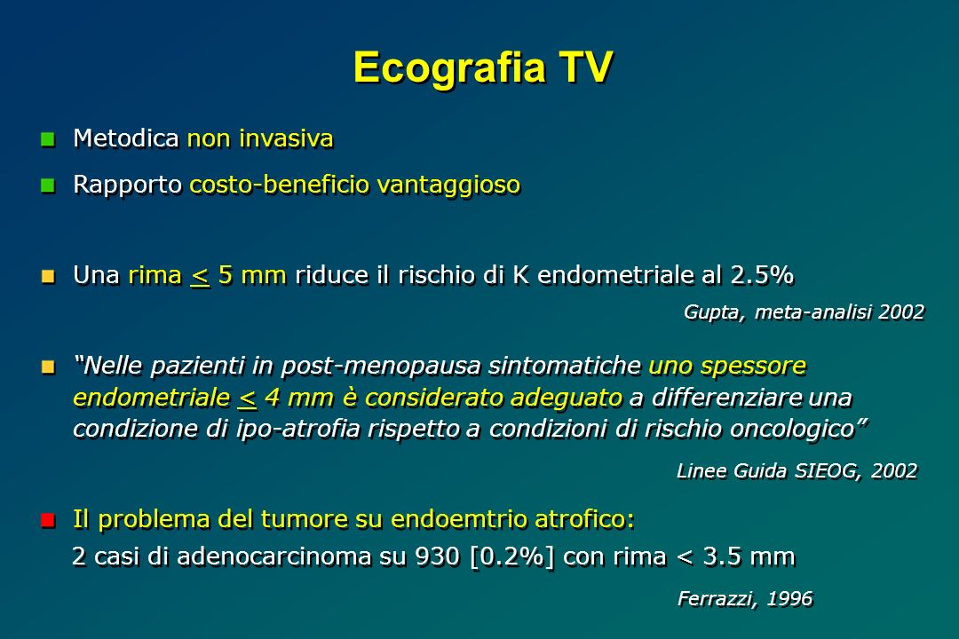 Ecografia TV Metodica non invasiva
